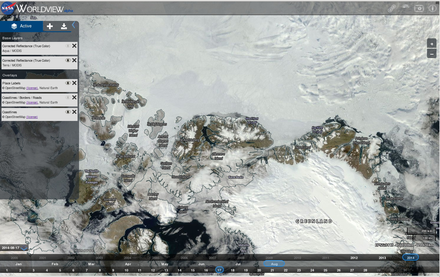 OpenStreetMap coastlines and labels in NASA GIBS/Worldview ...