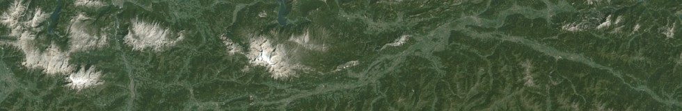 Northeastern Alps by Landsat 1 in 1972