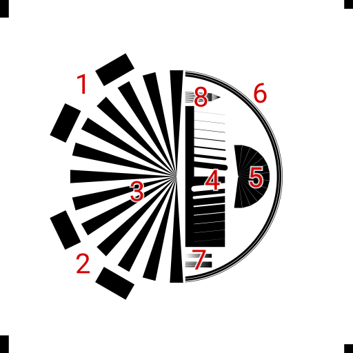 Test patterns used for evaluating polygon rendering