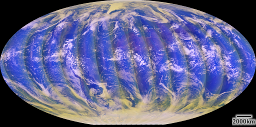 Sentinel-5P L1B data false color visualization showing data from Sept 10, 2021 at around 305nm, 390nm and 475nm