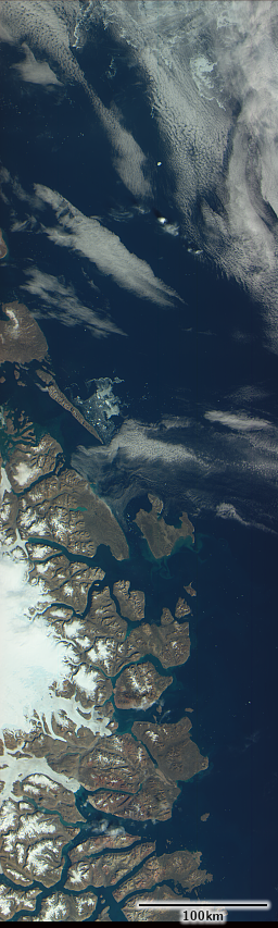 SeaHawk image sample from Eastern Greenland