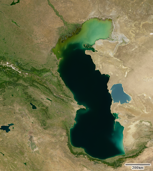 The Caspian Sea depicted by the Green Marble 2.1